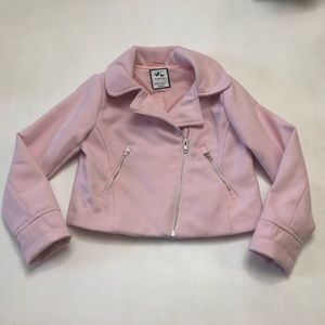 Gymboree girls pink Moto jacket